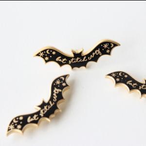 Stitchonomy  Needle Minder - Naaldenmagneet Bat Stitch Crazy - Goud