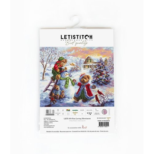 Leti Stitch Borduurpakket Fun Loving Merriment - Leti Stitch