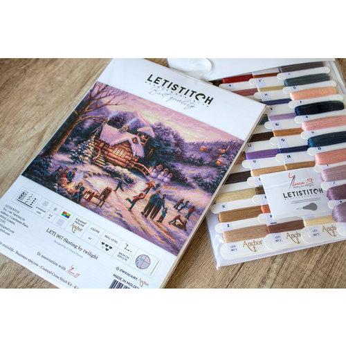 Leti Stitch Borduurpakket Skating by Twilight - Leti Stitch