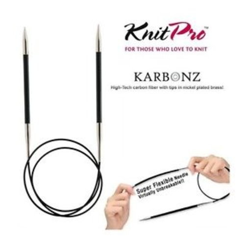 KnitPro Karbonz Rondbreinaalden