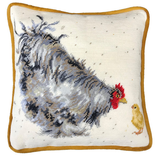 Bothy Threads Borduurpakket Hannah Dale - Mother Hen Coo Tapestry  - Bothy Threads
