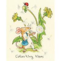 Borduurpakket Anita Jeram - Collecting Kisses - Bothy Threads