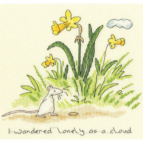 Bothy Threads Borduurpakket Anita Jeram - Lonely as a cloud - Bothy Threads
