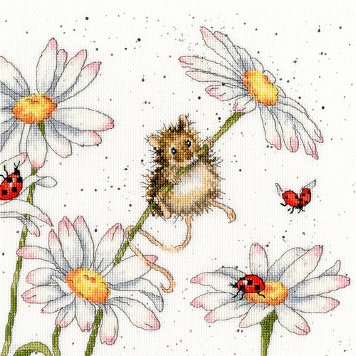 Bothy Threads Borduurpakket Hannah Dale - Daisy Mouse - Bothy Threads