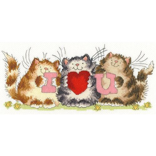 Bothy Threads Borduurpakket Margaret Sherry - I heart you - Bothy Threads