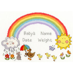 Bothy Threads Borduurpakket June Armstrong - Rainbow Baby - Bothy Threads