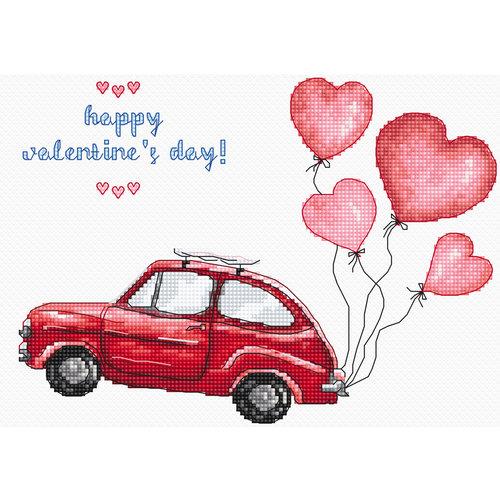 Leti Stitch Borduurpakket Happy Valentine's Day - Leti-Stitch