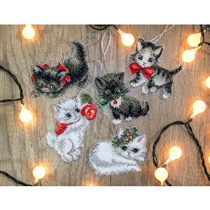 Leti Stitch Borduurpakket Christmas Kittens Toys  - Leti Stitch