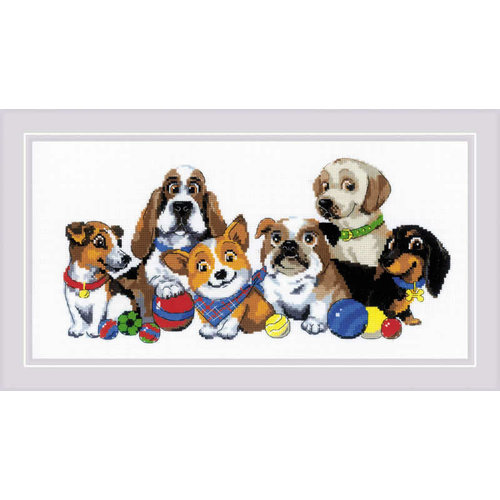 RIOLIS Borduurpakket Dog Show - RIOLIS