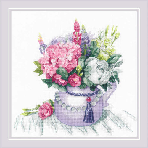RIOLIS Borduurpakket Floral Charm - RIOLIS