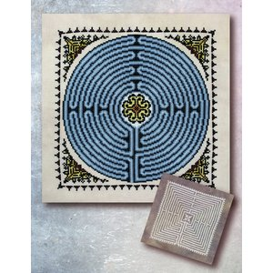 Ink Circles Borduurpatroon Chartres Labyrinth (2 patronen)  - Ink Circles
