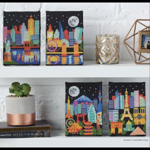 Tiny Modernist Borduurpatroon Night Skylines - Tiny Modernist