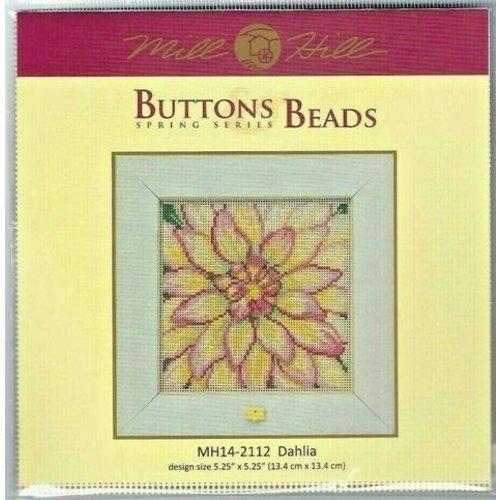 Mill Hill Borduurpakket Buttons Beads Spring Series - Dahlia- Mill Hill