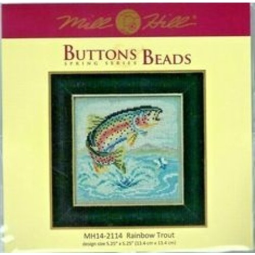 Mill Hill Borduurpakket Buttons Beads Spring Series - Rainbow Trout - Mill Hill