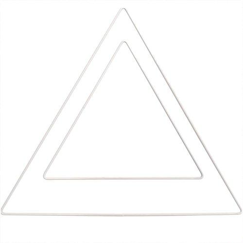 Rico Metalen Driehoek Wit - 20 cm