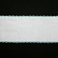 Aidaband 5 cm - wit/lichtblauw