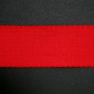 Jobelan Aidaband 5 cm - rood