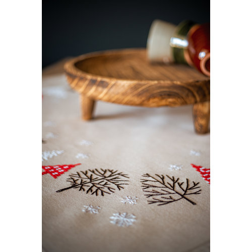 Vervaco Tafelkleed kit Moderne kerstmotieven