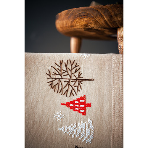 Vervaco Loper kit Moderne kerstmotieven
