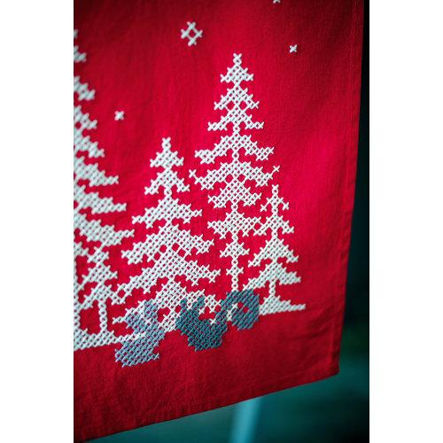 Vervaco Loper kit Kerstbomen en bosdiertjes