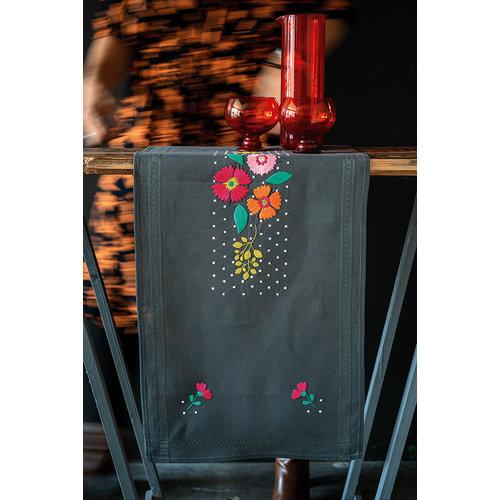 Vervaco Loper kit Kleurige bloemen