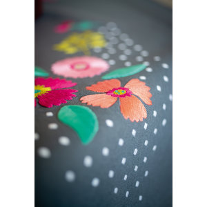 Vervaco Tafelkleed kit Kleurige bloemen