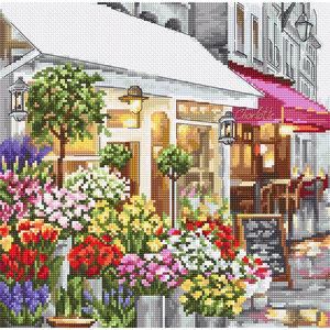 Leti Stitch Borduurpakket Flower Shop - Leti Stitch