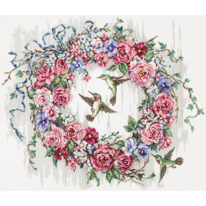 Leti Stitch Borduurpakket Hummingbird Wreath - Leti Stitch
