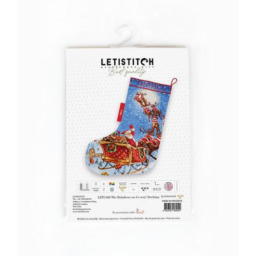 Leti Stitch Borduurpakket The Reindeers on it's way! - Leti Stitch