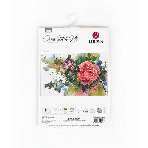 Luca-S Borduurpakket Red Roses - Luca-S