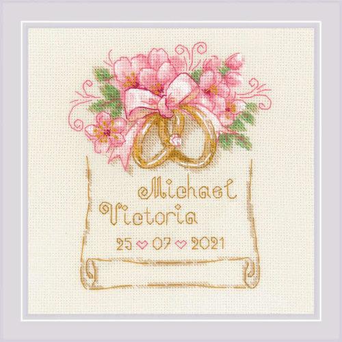 RIOLIS Borduurpakket Wedding Metric Wedding Rings - RIOLIS