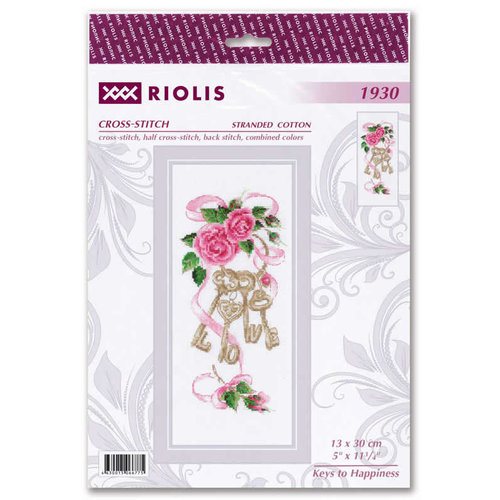 RIOLIS Borduurpakket Keys to Happiness - RIOLIS