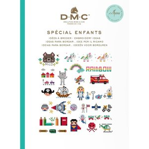 DMC Kruissteekboekje Ideeën om te borduren - Kids