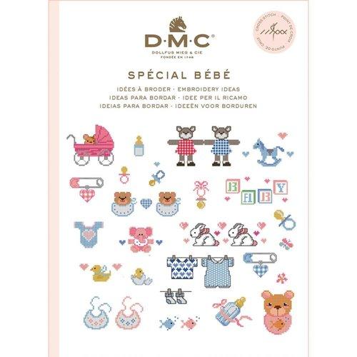 DMC Kruissteekboekje Ideeën om te borduren - Baby