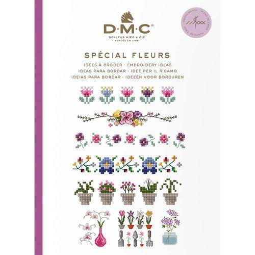 DMC Kruissteekboekje Ideeën om te borduren - Bloemen