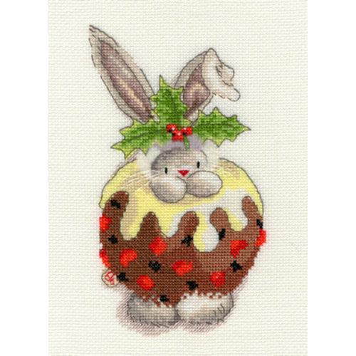 Bothy Threads Borduurpakket Bebunni - Christmas Pudding - Bothy Threads