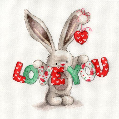 Bothy Threads Borduurpakket Bebunni - Love You - Bothy Threads