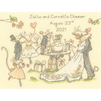 Borduurpakket Anita Jeram - Mice Day for a White Wedding - Bothy Threads