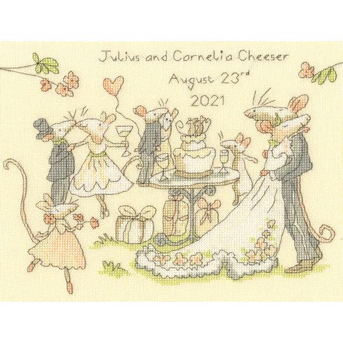 Bothy Threads Borduurpakket Anita Jeram - Mice Day for a White Wedding - Bothy Threads