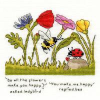 Borduurpakket Eleanor Teasdale - You Make Me Happy - Bothy Threads
