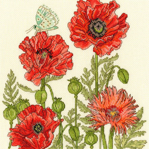 Bothy Threads Borduurpakket Fay Miladowska - Poppy Garden -Bothy Threads