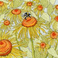 Borduurpakket Fay Miladowska - Sunflower Garden -Bothy Threads