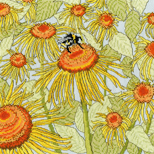 Bothy Threads Borduurpakket Fay Miladowska - Sunflower Garden -Bothy Threads