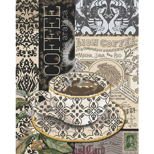 Leti Stitch Borduurpakket Lion Coffee B - Leti Stitch
