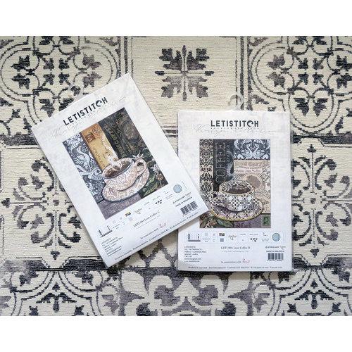Leti Stitch Borduurpakket Lion Coffee C - Leti Stitch
