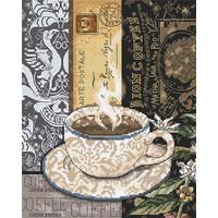 Borduurpakket Lion Coffee C - Leti Stitch