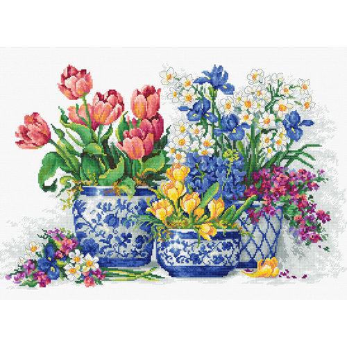 Luca-S Borduurpakket Spring flowers - Luca-S