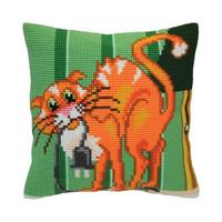 Kussen borduurpakket Cat Jokes - Collection d'Art