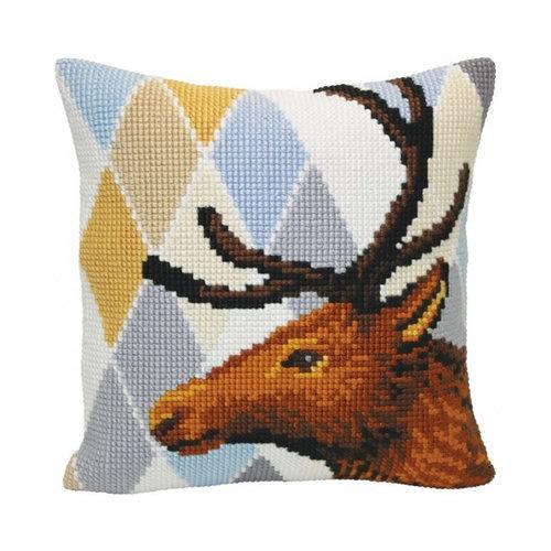 Collection d'Art Kussen borduurpakket Deer - Collection d'Art