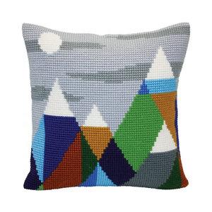 Collection d'Art Kussen borduurpakket Mountaintops - Collection d'Art